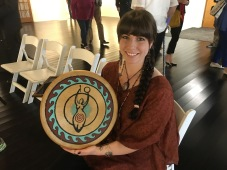 Icie Mitchell chanted an inspirational Native American prayer, accompanied by this ceremonial drum, during the Abilene Interfaith Council's National Day of Prayer observance May 4.