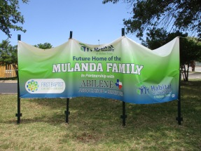 A new Habitat for Humanity home is under construction on the parking lot of First Baptist Church for the Bikole Mulanda Family. Volunteers are needed to finish the project. The family attends the Episcopal Church of the Heavenly Rest.