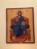 Icon at St. Luke Orthodox Church. Photo by Loretta Fulton