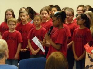 Bonham Elementary School choir performs for Primetimers at Pioneer Drive Baptist Church Photo Courtesy Pioneer Drive Baptist Church